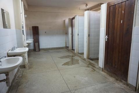 Bathroom shower room in dorm- Bailey