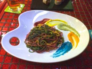 Artist pasta, from Harajuku, Tokyo